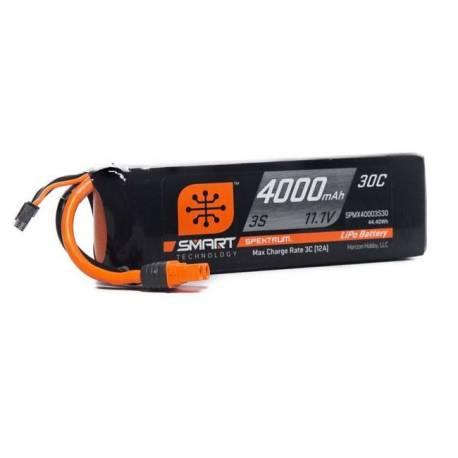 Spektrum Batteria Li-Po 3S 11,1V 4000mAh 30C Smart connettore IC3 (art. SPMX40003S30)