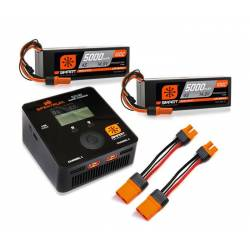 Spektrum Set Smart Powerstage 2 Batteria Lipo 4S 5000mAh e Smart S2100 AC (art. SPMXPS8HCI)