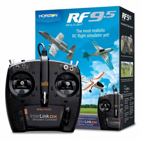 Horizon Hobby Simulatore di volo RealFlight 9.5 con Spektrum InterLink DX Controller (art. RFL1200)