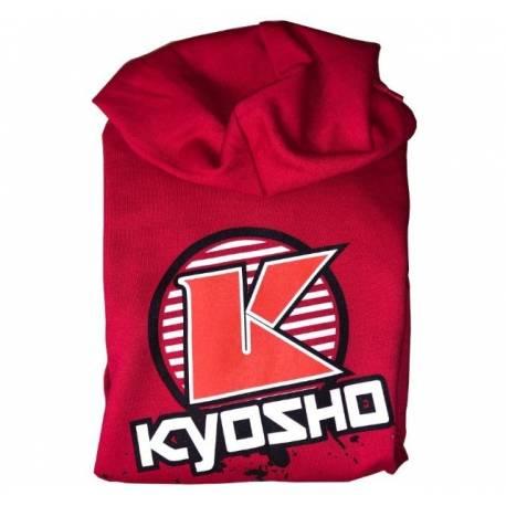 Kyosho Felpa con cappuccio K-CIRCLE Rossa Taglia Medium (art. K.88007M)