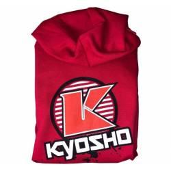 Kyosho Felpa con cappuccio K-CIRCLE Rossa Taglia Large (art. K.88007L)