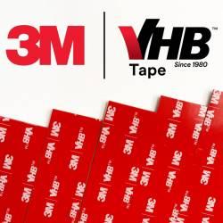 Italtrading Strisce di nastro Biadesivo 3M VHB grigio 100x25x1,1mm 10 pezzi (art. EZPBAD10)
