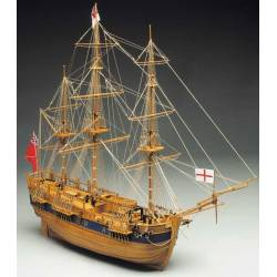 Mantua Model Vascello del capitano J. Cook Endeavour 810mm scala 1/60 kit di montaggio (art. 774)