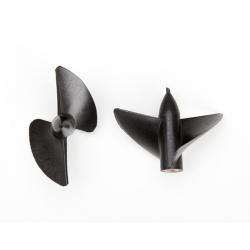Aeronaut Elica marina a due pale 33mm Rotazione Oraria (destra) Filetto M4 (art. 715353)