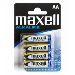 Siva Toys Batteria Maxell LR6 AA Alkaline 1,5V 2100mAh 4 pezzi (art. 135800)