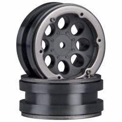 Axial Coppia cerchi 1.9 8-Hole Beadlock Wheels nero AX8087 (art. AXIC8087)