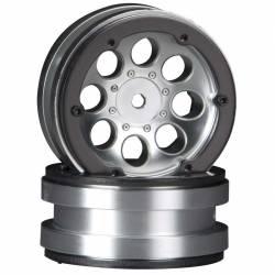 Axial Coppia cerchi 1.9 8-Hole Beadlock Wheels Cromo satinato AX8088 (art. AXIC8088)