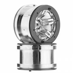 Axial Coppia cerchi 2.2 Rocksters Beadlock Wheel Chrome AX8092 (art. AXIC8092)