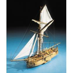 Mantua Model Cannoniera Olandese N°2 del Capitano van Speijk lunghezza 760mm scala 1/43 kit di montaggio (art. 797)