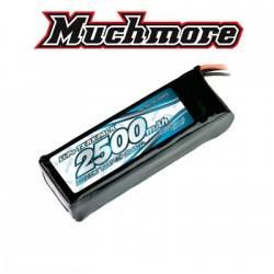 Muchmore Batteria LiPo IMPACT 7,4V 2500mAh 4C Flat Size per Tx e Rx (art. MLI-RF2500FD)