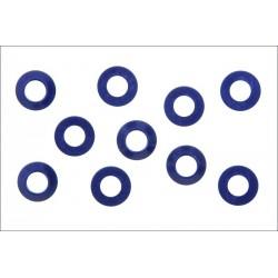 Kyosho Rondelle coniche 3x6 Alluminio blu 10 pezzi (art. W0141V)