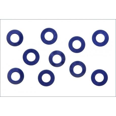 Kyosho Rondelle coniche 3x6 Alluminio blu 10 pezzi (art W-0141V)