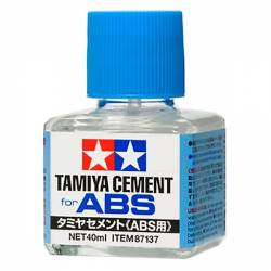 Tamiya Colla Cement liquida per Plastica ABS e Polistirene 40ml. (art. TA87137)
