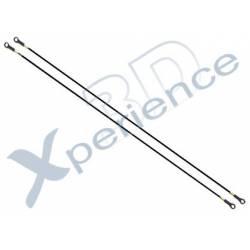 Xperience 3D Tirante rotore di coda 2 Pezzi equivalente HS1017 (art. XP4133)