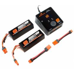 Spektrum Set Smart Powerstage 2 Batteria Lipo 3S 5000mAh e Smart S2100 AC (art. SPMXPS6I)
