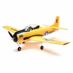 E-flite Aeromodello elettrico T-28 Trojan 1.1m BNF Basic con AS3X e SAFE Select (art. EFL08250)