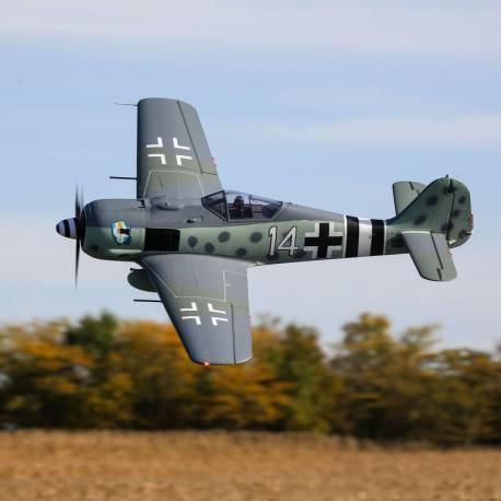E-flite Aeromodello elettrico Focke-Wulf FW 190A 1500mm Smart BNF Basic con AS3X e SAFE Select (art. EFL01350)