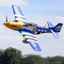 E-flite Aeromodello elettrico P-51D Mustang 1500mm BNF Basic con AS3X e SAFE Select (art. EFL01250)