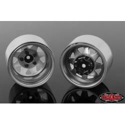 "RC4WD Set quattro cerchi 5 Lug Deep Dish Wagon 1.9"" Acciaio stampato Beadlock Wheel colore Acciaio (art. RC4WD-Z-W0244)"