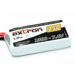Extron Batteria Li-po X2 7,4V 1300mAh 25-50C connettore XT60 (art. X6408)