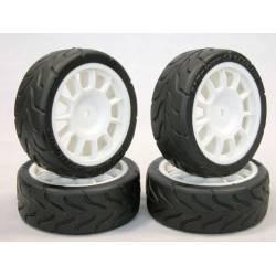 EZpower Treno Gomme con cerchi Fiat Abarth 500 Assetto corse diametro 70mm (art. EZRL2106)