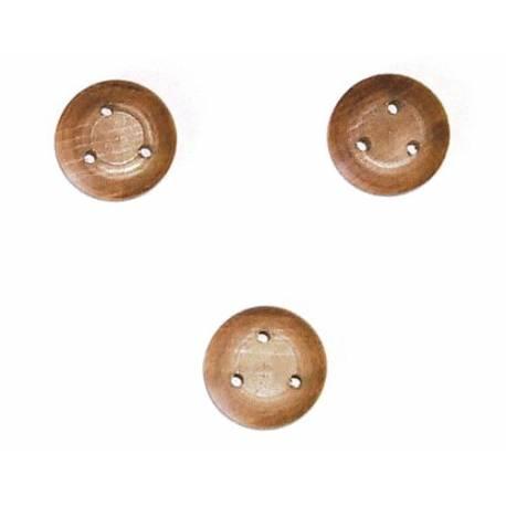 Mantua Model Bigotta in Noce diametro 15mm 10 pezzi (art. 37202)