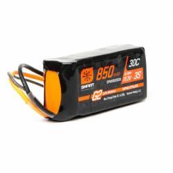 Spektrum Batteria Smart LiPo Battery G2 3S 11,1V 850mAh 30C connettore IC2 (art. SPMX8503S30)
