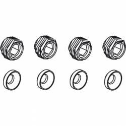 Jamara Boccole in nylon per sfere Voltage / Major / Tiger / Hoolk / Infect / Liquid (art. 505080)