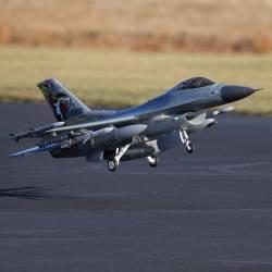 E-flite F-16 Falcon 80mm EDF Smart Jet BNF Basic con AS3X e SAFE Select (art. EFL87850)