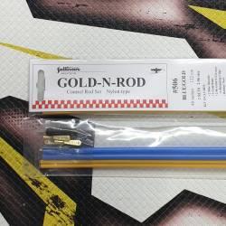 Sullivan Coppia bowden con tirante in Nylon 5x4x1220 mm modello Blue-Gold 506 (art. 749827)