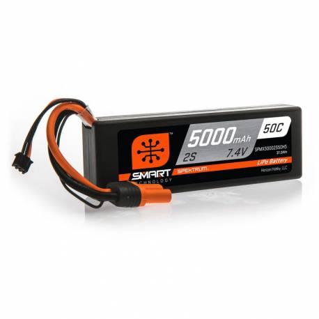 Spektrum Batteria Li-Po 2S 7,4V 5000mAh 50C Smart Hardcase con IC5 (art. SPMX50002S50H5)