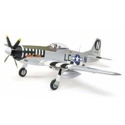 E-flite Aeromodello elettrico P-51D Mustang 1200mm BNF Basic con AS3X e SAFE Select (art. EFL89500)