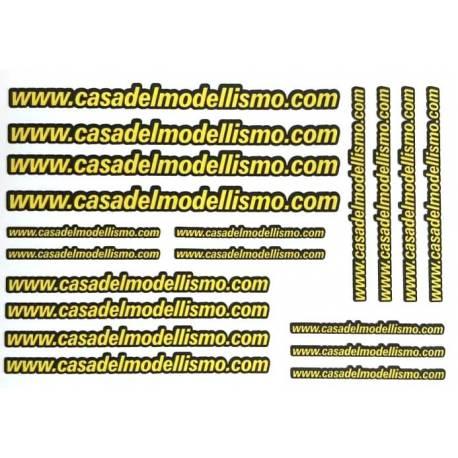 Casa del Modellismo Foglio decals 150x210mm con 19 loghi pretagliati