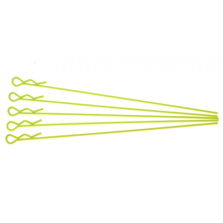 Xceed Clips carrozzeria Lunghe per 1/10 giallo Fluo (XC103127)