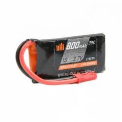 Spektrum Batteria Li-Po 1S 3,7V 800mAh 30C connettore JST BEC (art. SPMX8001S30)