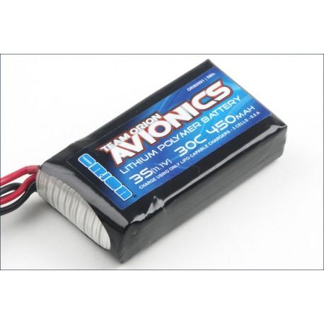 Orion Avionics batteria Lipo 11,1V 450mAh 30C BEC (art. ORI60091)
