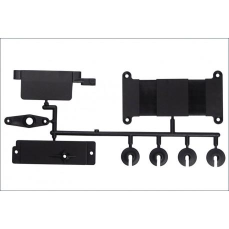 Kyosho Set fissaggio batteria e piattelli ammortizzatori (FM-611