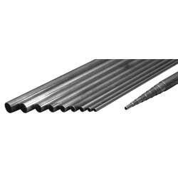 Eurokit Barra di acciaio filettata diametro 2MA lunghezza 1 metro (art. TUB/55314/000)