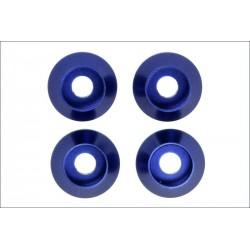 Kyosho Rondelle M3 in alluminio anodizzate blu (4) (art W-0148)