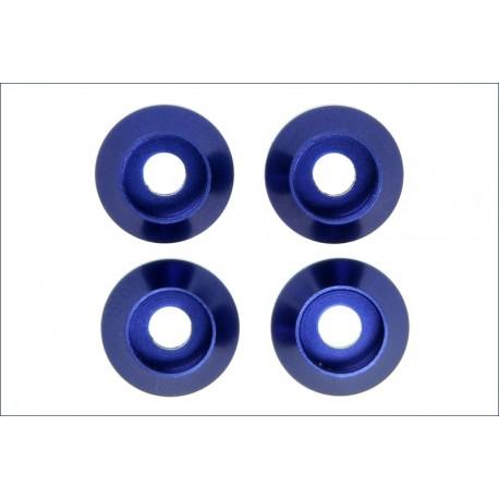 Kyosho Rondelle M3 in alluminio anodizzate blu (4) (art W0148)