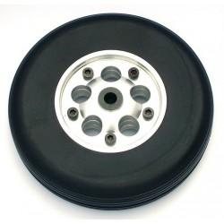 Coppia ruote in gomma cerchio Alluminio 100mm (art RUO/34423/000