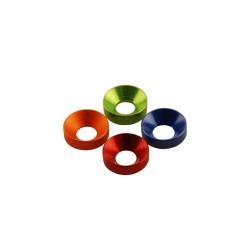 Axial Rondelle coniche svasate Alu 3x7x2mm Verde 6 pzz (AXA1101)