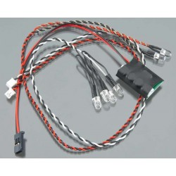 Axial Set centralina con luci LED: 4 bianche e 2 Rosse (art. AXIC2425)