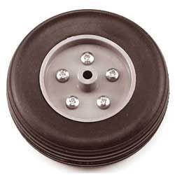 Eurokit Coppia ruote in gomma cerchio Nylon 85mm (RUO/34370/085)