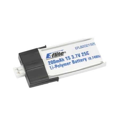 E-flite Batteria Li-po 3,7V 200mAh 25C 1S (art. EFLB2001S25)