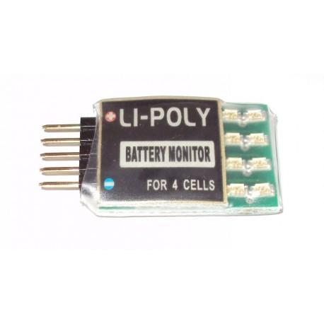 Mantua Model Mini Li-po tester 1-4 celle con Led (art. 4692)