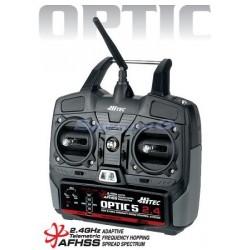 Hitec Radiocomando Optic 5 2,4GHz Tx+Rx Mode 1 (art. 160242)