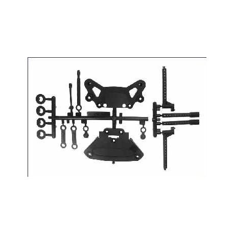 Kyosho Set porta bumper e tiranti per Fazer (art. FA005B)