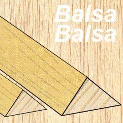Eurokit Listello triangolare balsa 20x20x1000mm (art. LTB/99364)