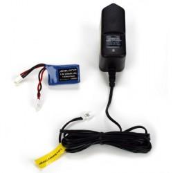 Team Losi Carica batteria + batteria Lipo 1/24 Micro (LOSB9635I)